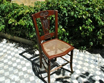 Kitchen Chair, Wooden Carved Chair, Mid Century Chair, Antique Chair, Dining Chair, Country Chair, Desk Chair, Chair