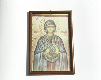 Saint Parascheva, Orthodox Religious Icon Print, Christian Decor, Catholic Gift, Religious Wall Tapestry, Orthodox Icon, Religious Gift