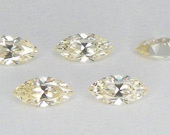 5 PCS Light Yellow Canary Russian CZ Marquise Cut 6 x 3 mm  Loose Gemstone Loose Russian CZ