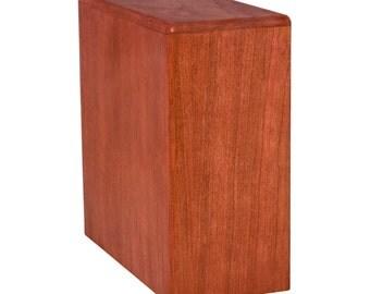 Cherry Bookshelf Wood Cremation Urn