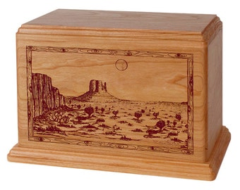 Natural Cherry Desert Wood Cremation Urn