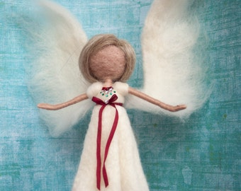 Needle felted angel fairy decoration *MADE TO ORDER*