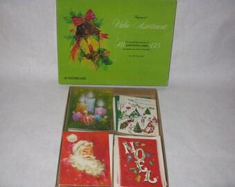 Vintage lot of unused Christmas cards with original box