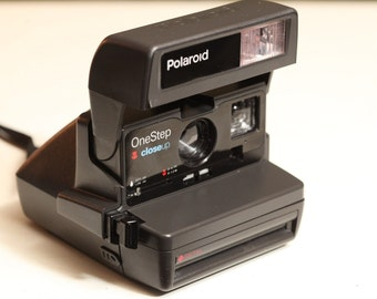 Vintage POLAROID One Step Camera Black Instant Film Photography