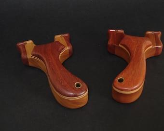 Wood slingshot, custom made slingshot, catapult, hand made wooden slingshot