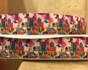 5 YDS It's A Small World Ribbon