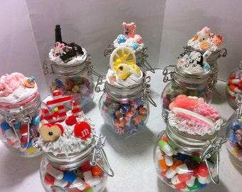 Kawaii Jars Filled with Lucky Stars/ Message Pills