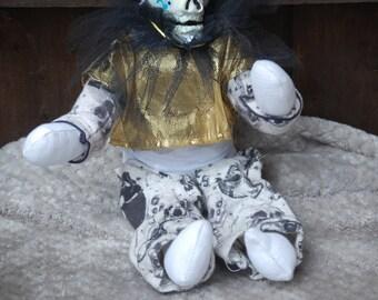 Skull Gothic/Horror rag doll clown 24ins
