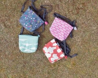 Kids Bag - little girls bag ecofelt and organic canvas