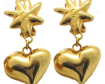 CHRISTIAN LACROIX, earrings dangling Golden.