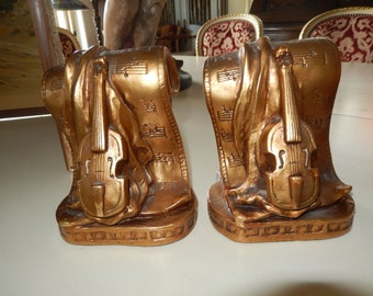 MUSICAL INSTRUMENT BOOKENDS