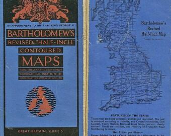 John Bartholomes Maps - New Forest Hampshire - Circa 1936 - 1940.