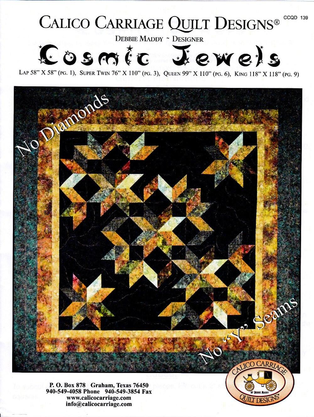 COSMIC JEWELS No Y Seams!! By: Debbie Maddy - Calico Carriage ... : calico carriage quilt designs - Adamdwight.com