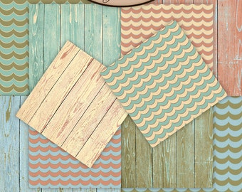 Digital Scrapbook: Sea, Paper Pack Extra, By The Sea