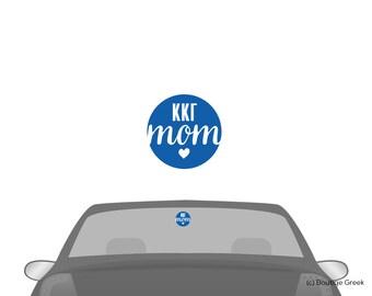 KKG Kappa Kappa Gamma Circle Mom Car Laptop Window Vinyl Sorority Decal Sticker