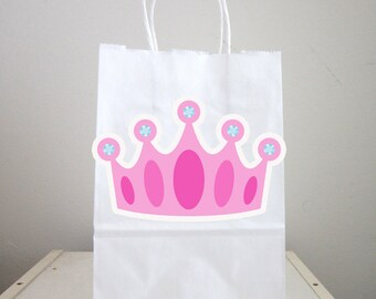 Princess Goody Bags, Princess Favor Bags, Princess Gift Bags, Princess Crown