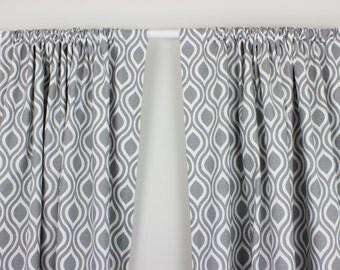 Coral Curtain Panels Set Navy Blue Drapes Blue Curtain Panels