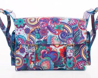 Te-Bags Funky Paisley Print Camera Bag / satchel