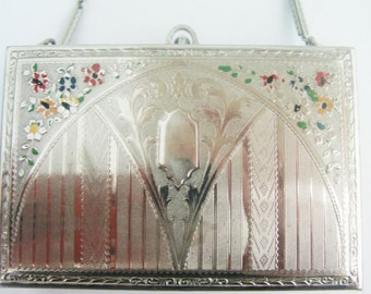 Antique  Minaudiere / Antique Purse / Silver Purse / Silver Minaudiere / Antique Evening Bag / Silver Evening bag! /