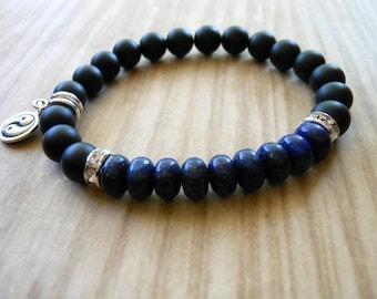 Mala Bracelet, Lapis Lazuli, Healing & Balancing, Mala Bracelet, Yoga, Buddhist, Meditation, Prayer Beads