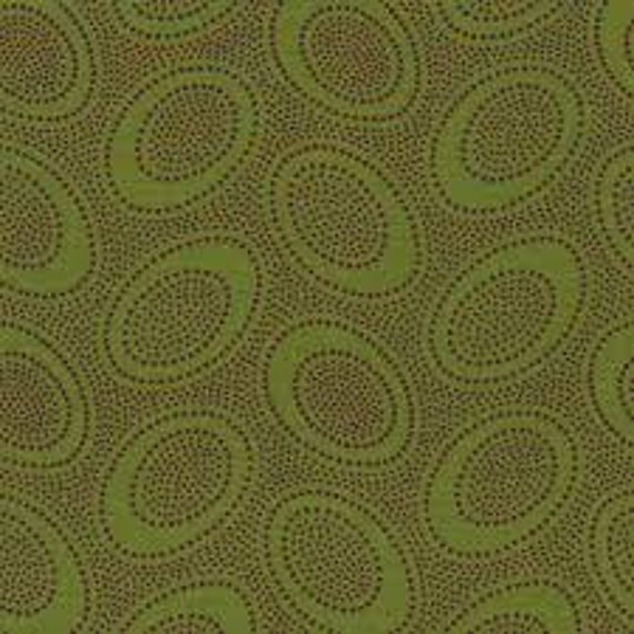ABORIGINAL DOT Forest Green  GP71 Kaffe Fassett sold in 1/2 yard increments