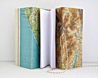Lake District travel journal  Map notebook  Vintage Bartholomew's map sketchbook  Keepsake journal, wedding, anniversary, birthday gift