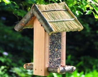 Thatched Roof Bird Feeder Building Plans