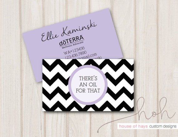 Essential Oil Business Cards Pick Your Color by HouseofHays