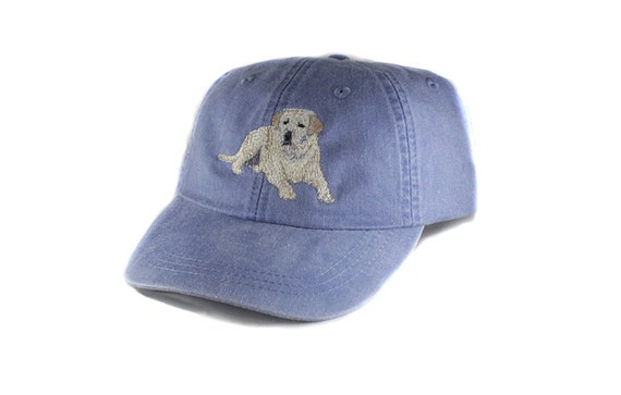 Yellow Labrador Retriever Embroidered Hat Baseball By