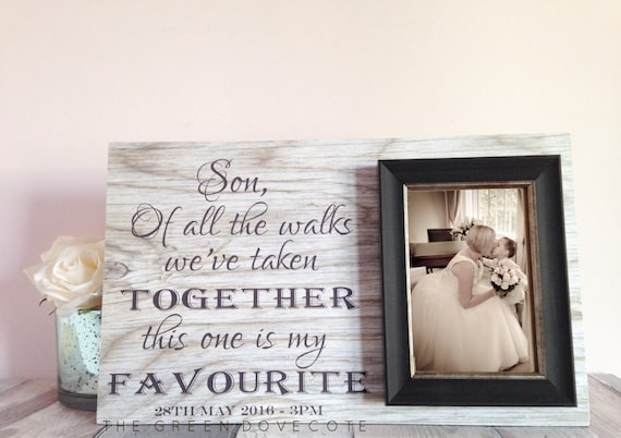 Wedding Gift For My Son : GiftWedding Gift For Son , Son Of The Groom GiftTo My Son On My ...