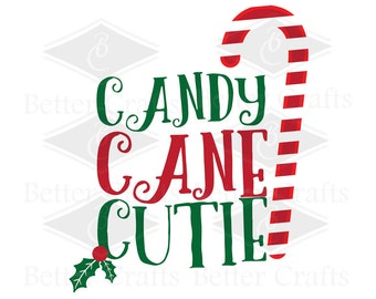 Candy Cane Cutie SVG, DXF, EPS Cut file.
