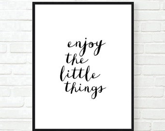 inspirational typographic print elegant and simple by