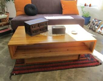 Vintage Large Oak Box Coffee Table