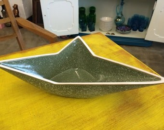 Atomic Green Speckled  Centerpiece Bowl