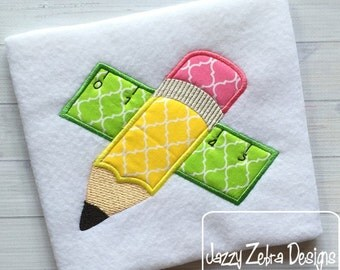 Fat Pencil and Ruler Appliqué Design