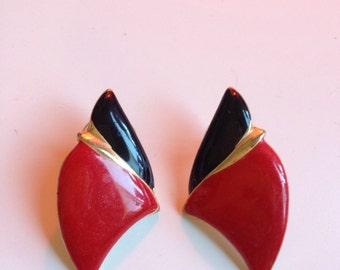 Red/black Vintage Earrings