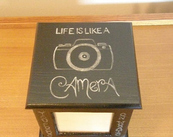 Hand Painted Photo Caddy