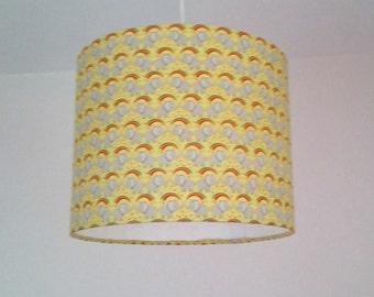 Yellow elephant lampshade, rainbow and elephants, yellow nursery decor, neural baby gift ideas, nursery lighting