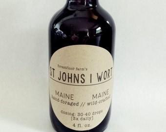 St. Johns Wort Tincture [Wild Maine foraged].