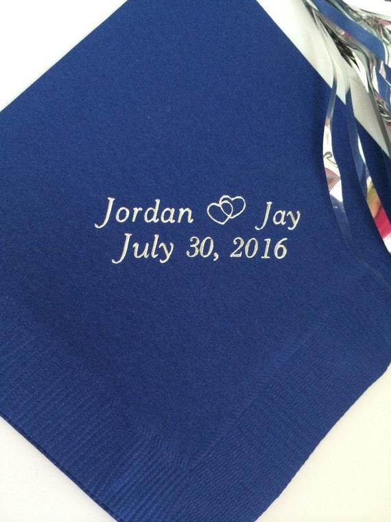 personalized napkins wedding personalized by memorablewedding