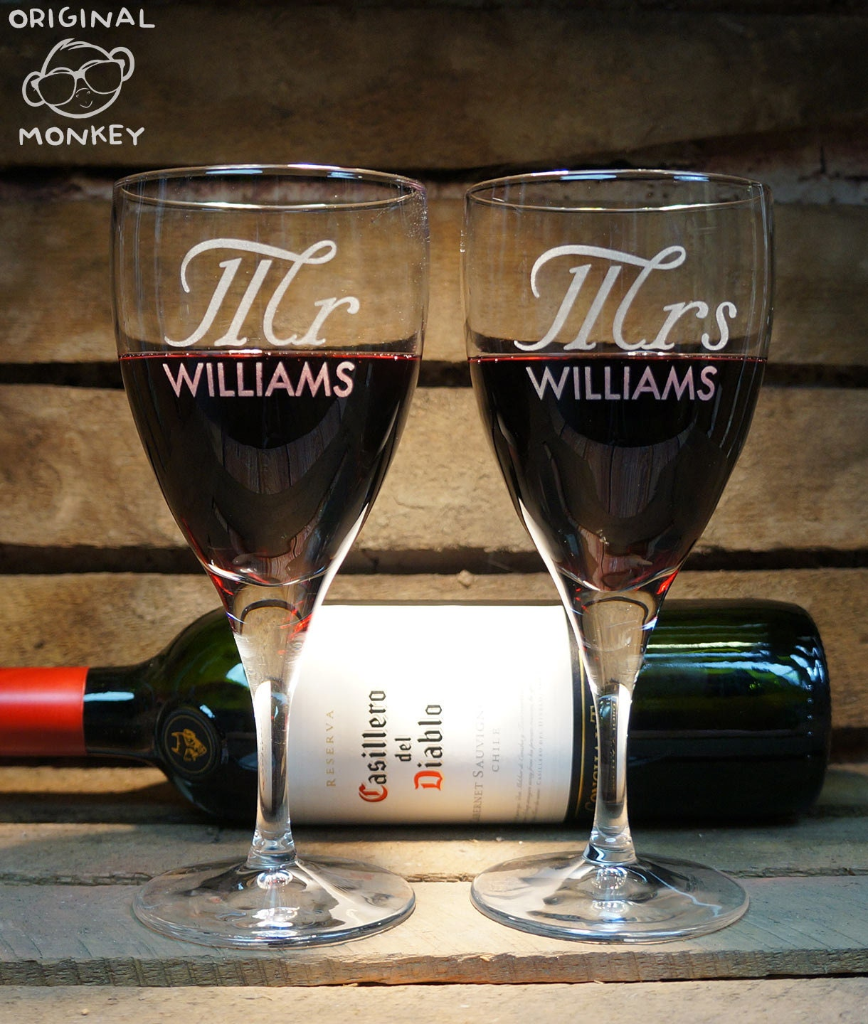 Wedding Gift Wine Glasses : Mr & Mrs Wine Glasses Wedding Gifts Christmas gift New home