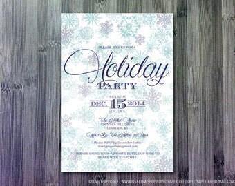 Snowflake Holiday Party Invitation (HP_WIN6)