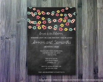 Love is in Bloom Baby Shower Invitation (BAS11)
