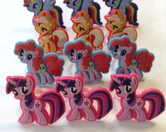 My Little Pony Rings Party Favors Cupcake Toppers 12 Pieces