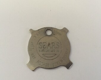 Vintage Key Chain Screwdriver Sears Roebuck and Co