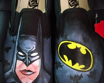 Custom made Batman Vans. Designed and personalized just for you!