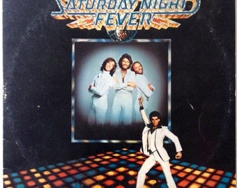 Saturday Night Fever Soudtrack Double LP Vinyl Record Album, RSO - RS-2-4001, Disco, 1977