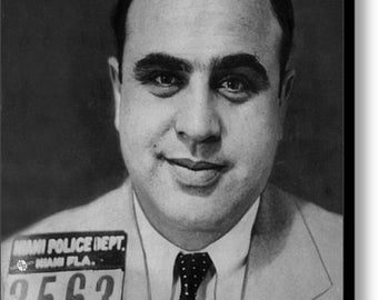 Al Capone Mug Shot 1931 Vertical on Stretched Canvas