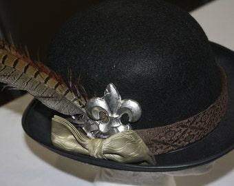 Bowler/Derby Steampunk. Victorian, Eduardian, Hat
