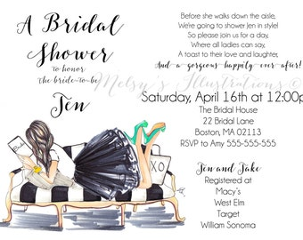 Downloadable Invites - Bridal Shower Invitations - Wedding Invitations - Bridal Shower - Weddings - Bridal Party